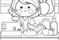 Shopping Coloring Pages - Valuable Grocery Shopping Coloring Pages Guve Securid Co Download