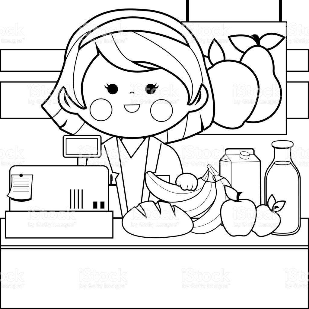 Valuable Grocery Shopping Coloring Pages Guve Securid Co Download Of Christmas Shopping Coloring Page Download