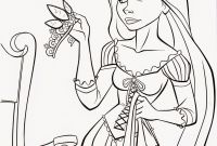 Print Free Coloring Pages Disney - Walt Disney Printable Tangled Princess Holding Crown Colouring Pages Gallery