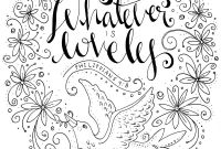 Praise and Worship Coloring Pages - Whatever is Lovely A Coloring Book for Reflection and Worship Gallery