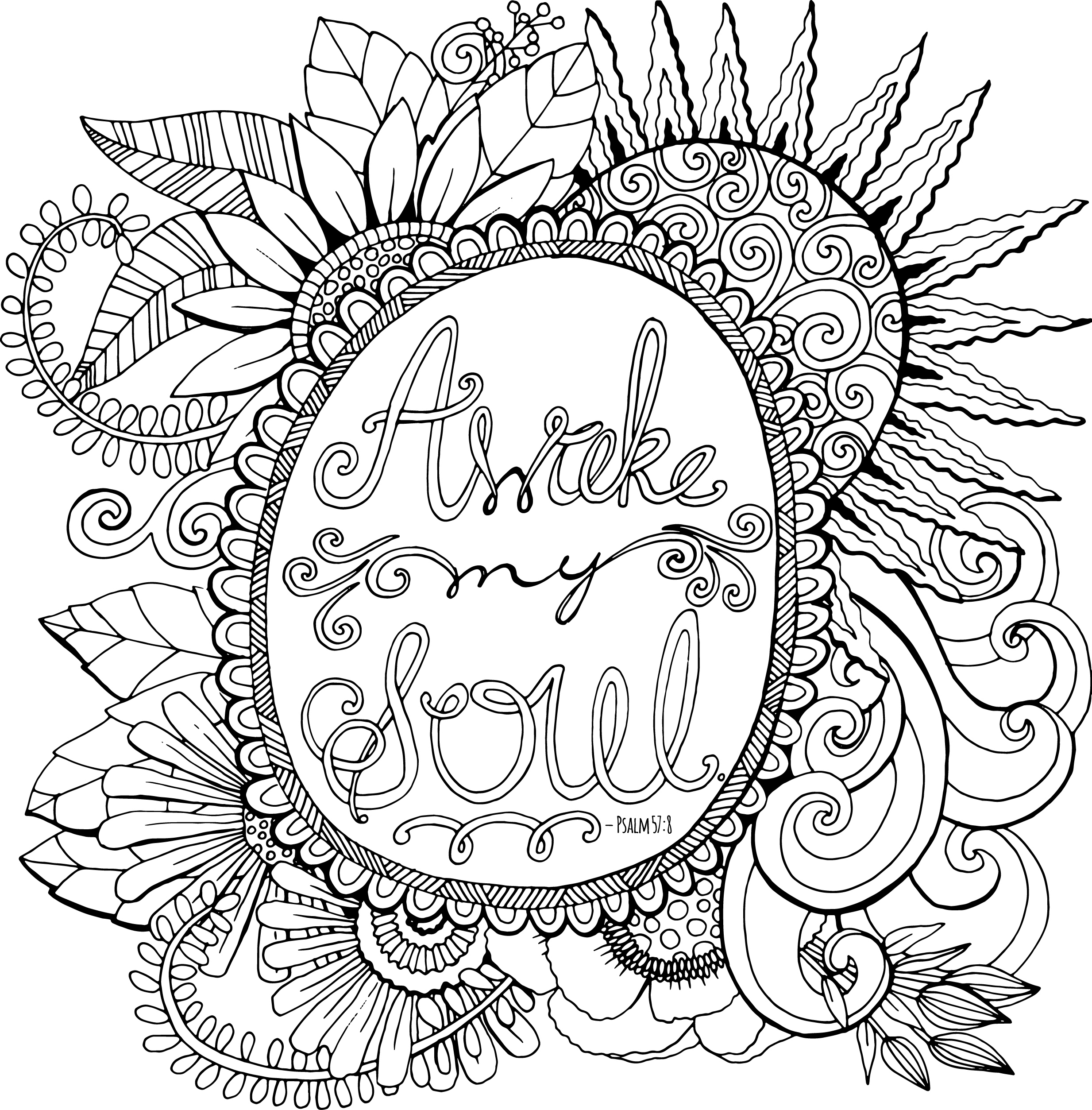 Faith Coloring Page to Print I Will Praise Him Collection – Free ...
