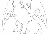 Winged Cat Coloring Pages - Winged Cat Coloring Pages Free Coloring Library Gallery