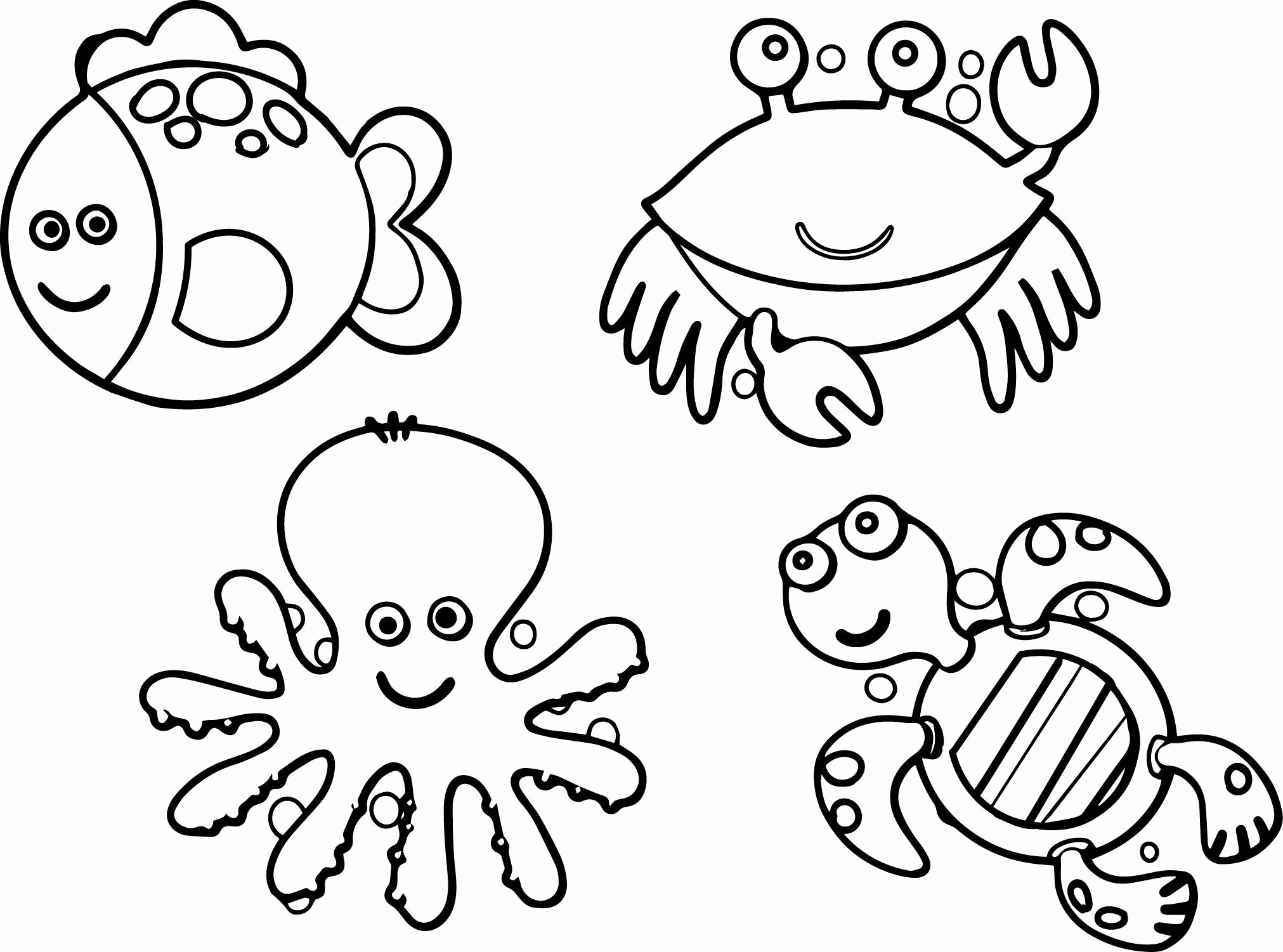 Animal Coloring Pages to Print 7r - Free For Children