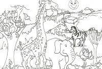 Animal Coloring Pages - Best Zoo Animal Coloring Pages for Kids Collection