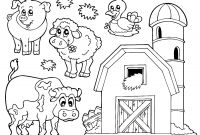 Animal Coloring Pages - Preschool Farm Coloring Pages Free Myscres