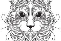 Cat Coloring Pages - Adult Coloring Pages Cat 1 Coloring Pages Pinterest