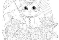 Cat Coloring Pages - Cat Rainbow Mandala Cats Adult Coloring Pages