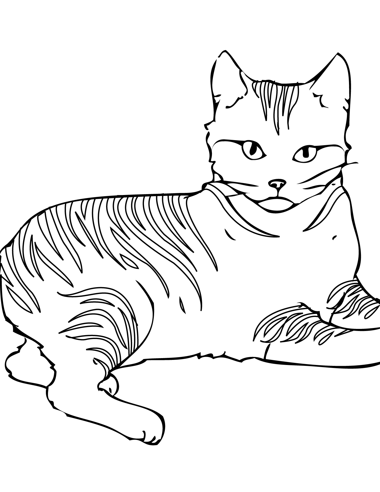 Cat Coloring Pages Download 9e - Free For Children