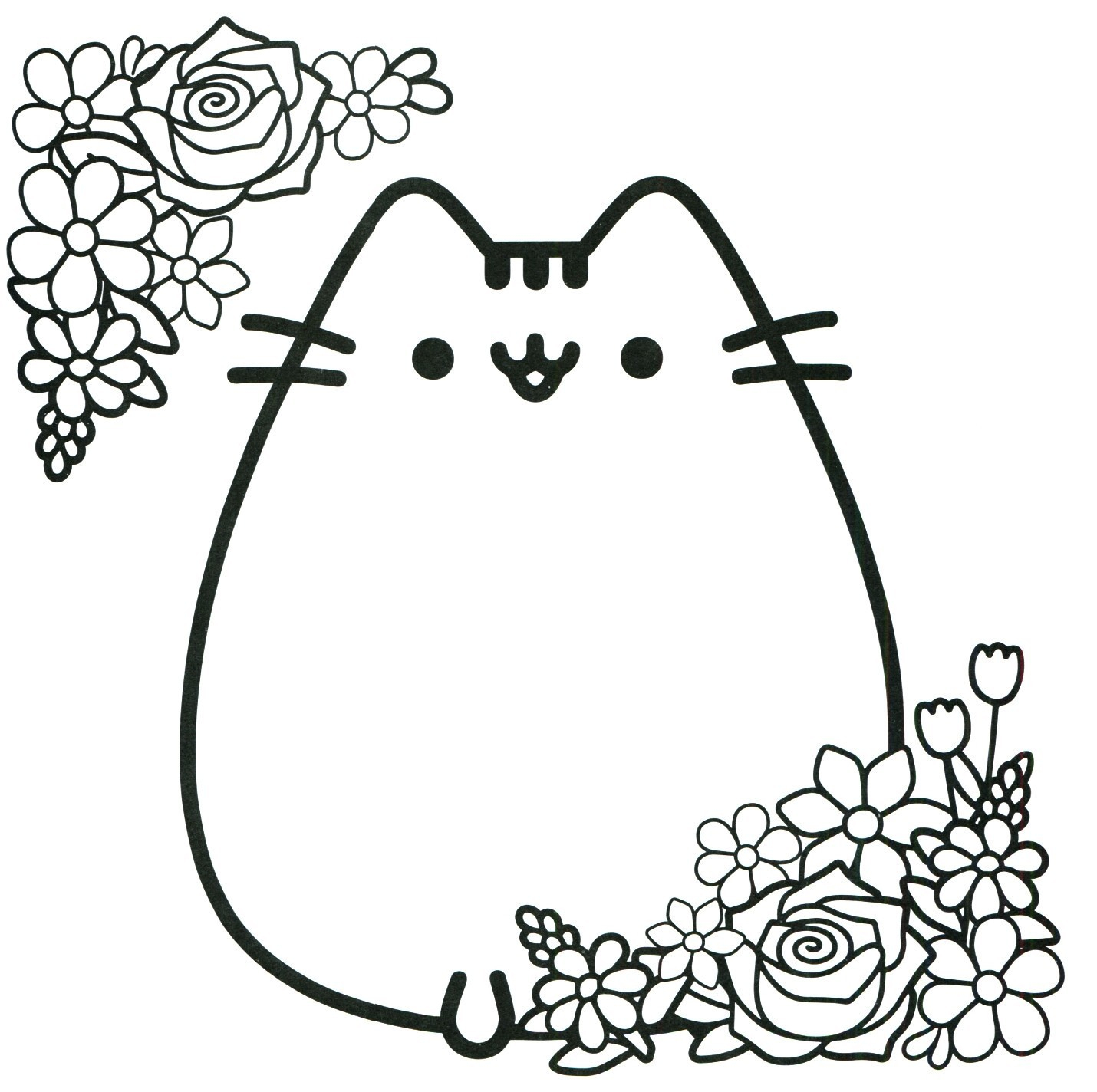 Cat Coloring Pages Download Free
