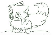 Cat Coloring Pages - Kawaii Chibi Cat Coloring Pages Printable