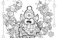 Christmas Coloring Pages - Christmas Owl Christmas Adult Coloring Pages