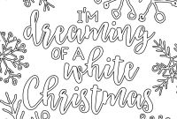 Christmas Coloring Pages - Free Printable White Christmas Adult Coloring Pages Our