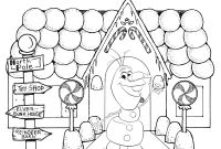 Christmas Coloring Pages - Frozen Christmas Coloring Pages