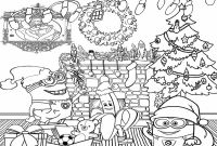 Christmas Coloring Pages - Minions Christmas Coloring Pages