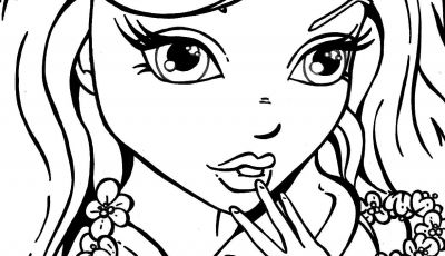 Coloring Pages for Girls - Flowers Girl Stamps Coloring Pages Pinterest