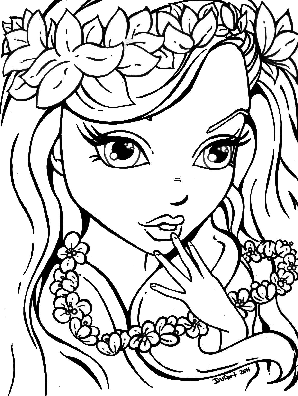 Coloring Pages for Girls Printable 11p - Free For kids