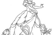 Coloring Pages for Girls - Get This Princess Belle Girls Coloring Pages to Print Line