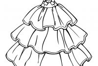 Coloring Pages for Girls - Perspective Barbie Dresses Coloring Pages Helpful Page A Dress