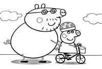 Coloring Pages for Kids - Peppa Pig Daddy Pig Coloring Book Coloring Pages Kids Fun Art