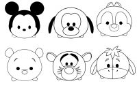 Disney Coloring Pages - Tsum Tsum Disney Colouring Pages Coloring Pages Printable