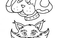 Dog Coloring Pages - Dog and Cat Coloring Pages Hellokids