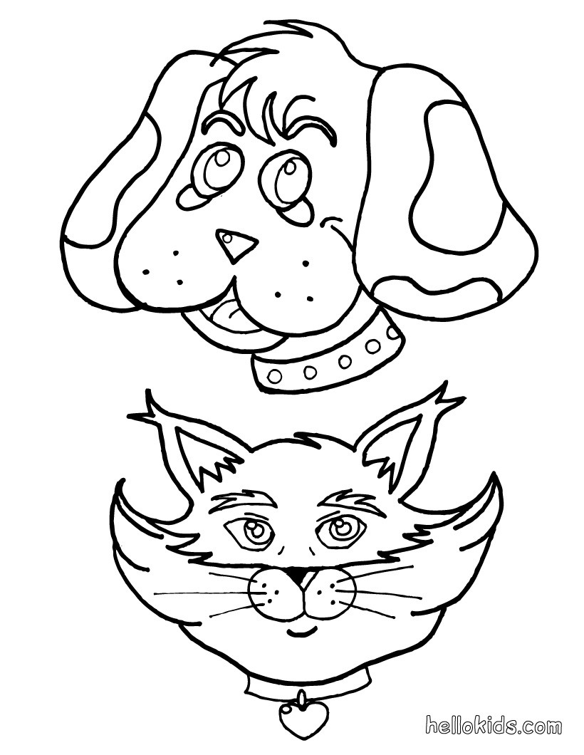 Dog Coloring Pages Collection 11b - To print for your project