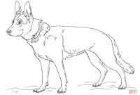 Dog Coloring Pages - German Shepherd Dog Coloring Page