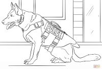 Dog Coloring Pages - K 9 Police Dog Coloring Page
