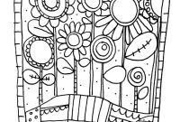 Flower Coloring Pages - Adult Simple Flowers Coloring Pages Printable