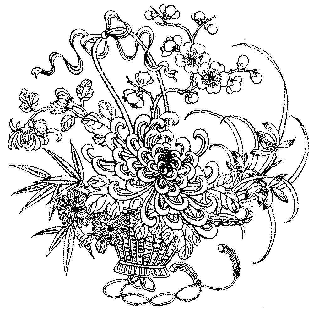 Flower Coloring Pages Download 10s - To print for your project