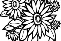 Flower Coloring Pages - Coloring Pages Flowers Bertmilne Me Sheets Printables Fresh Free