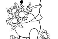 Flower Coloring Pages - Drawn Sunflower Colouring Page Pencil and In Color Drawn Sunflower