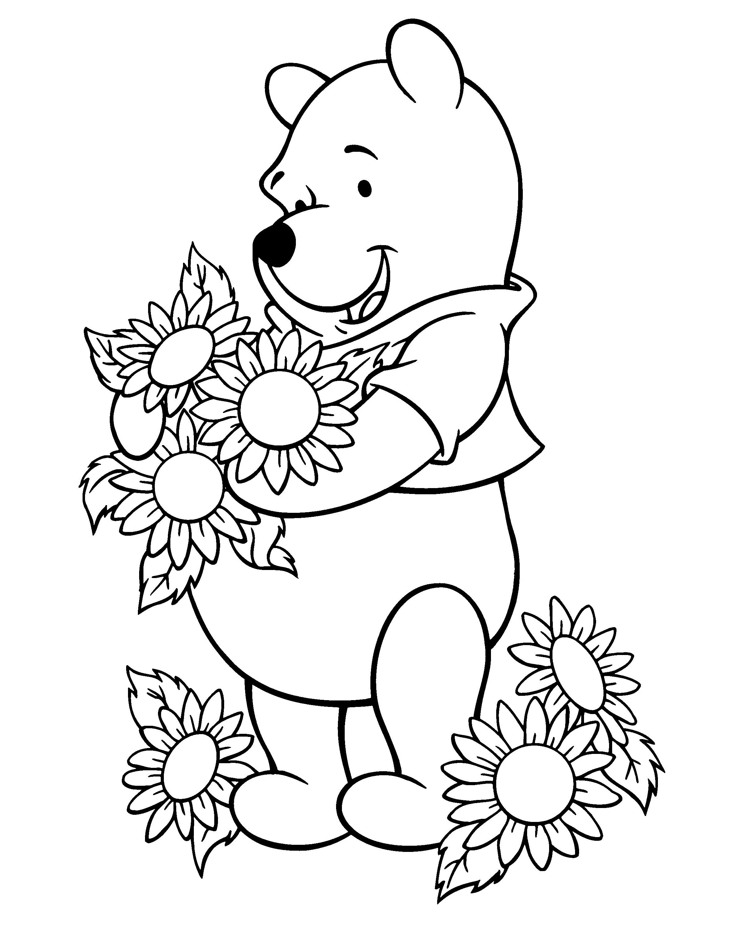 Flower Coloring Pages Download 5i - Save it to your computer