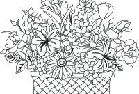 Flower Coloring Pages - Flower Bouquet Coloring Pages