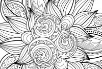 Flower Coloring Pages - Free Printable Flower Coloring Pages for Adults New Cool Printable