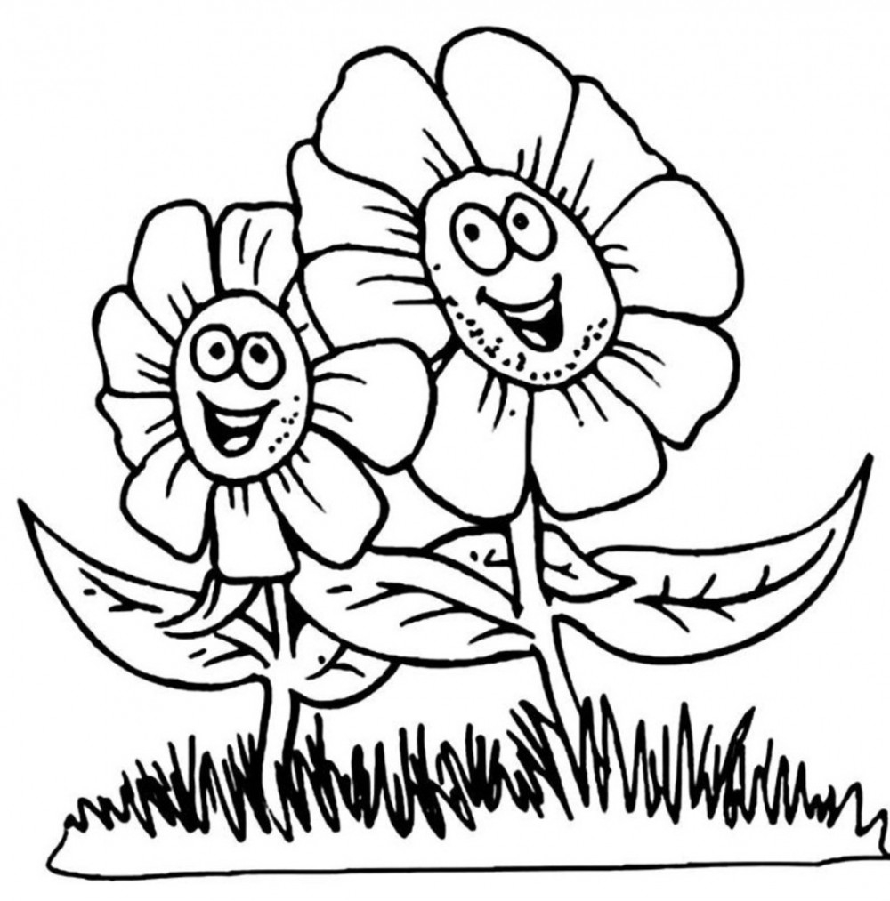 Flower Coloring Pages Download 2n - Save it to your computer