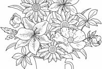 Flower Coloring Pages - Get This Realistic Flowers Coloring Pages for Adults Raf61