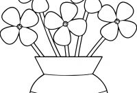 Flower Coloring Pages - New Flower Pot Coloring Pages Collection