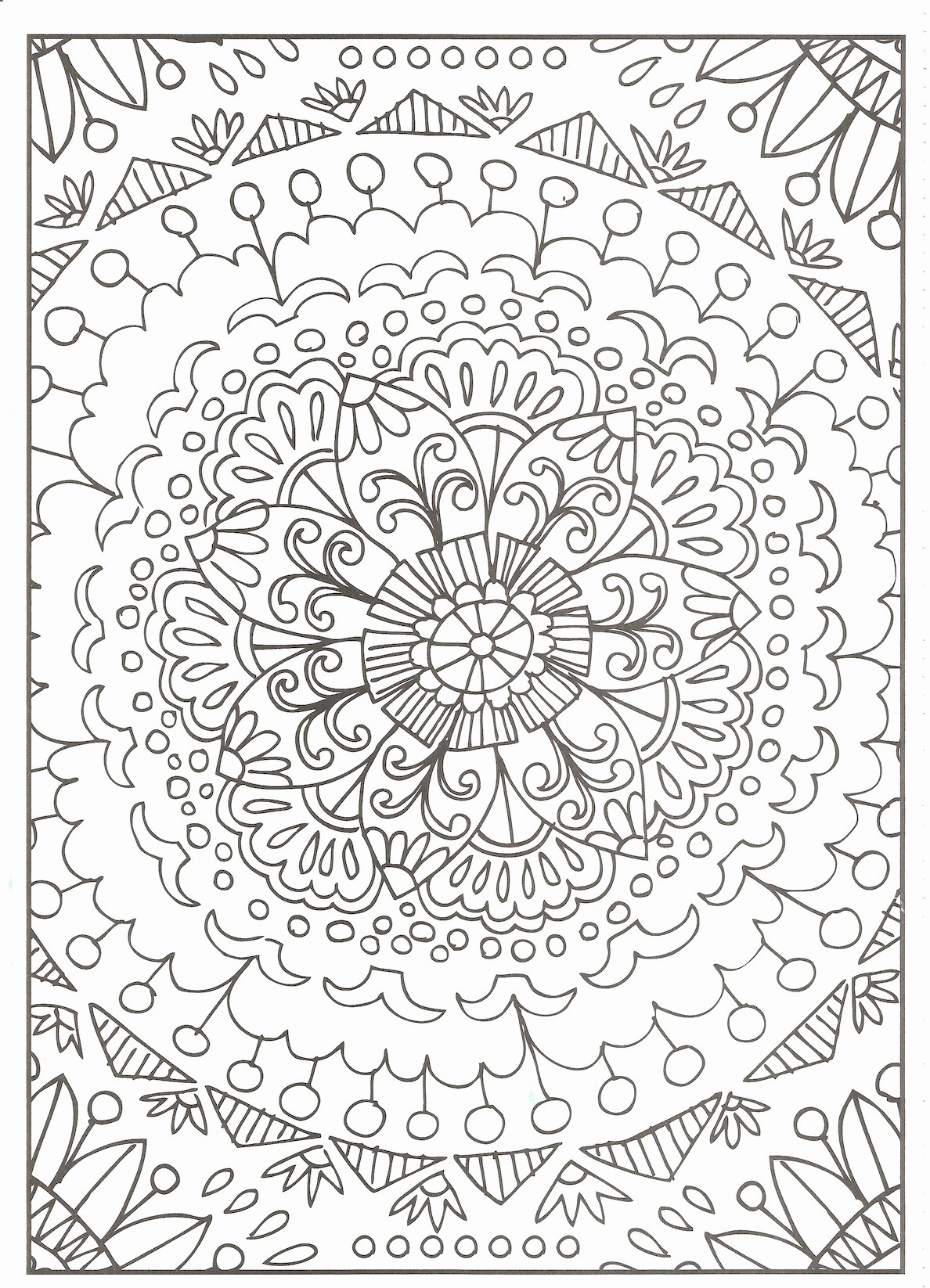 Flower Coloring Pages Download 20f - To print for your project