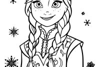 Frozen Coloring Pages - Anna Frozen Coloring Page at Getcolorings