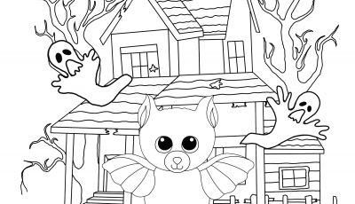 Halloween Coloring Pages - Beanie Boo Halloween Coloring Page Bat Beanie Boo Fan Club