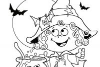 Halloween Coloring Pages - Drawn Witch Halloween Coloring Page Pencil and In Color Drawn