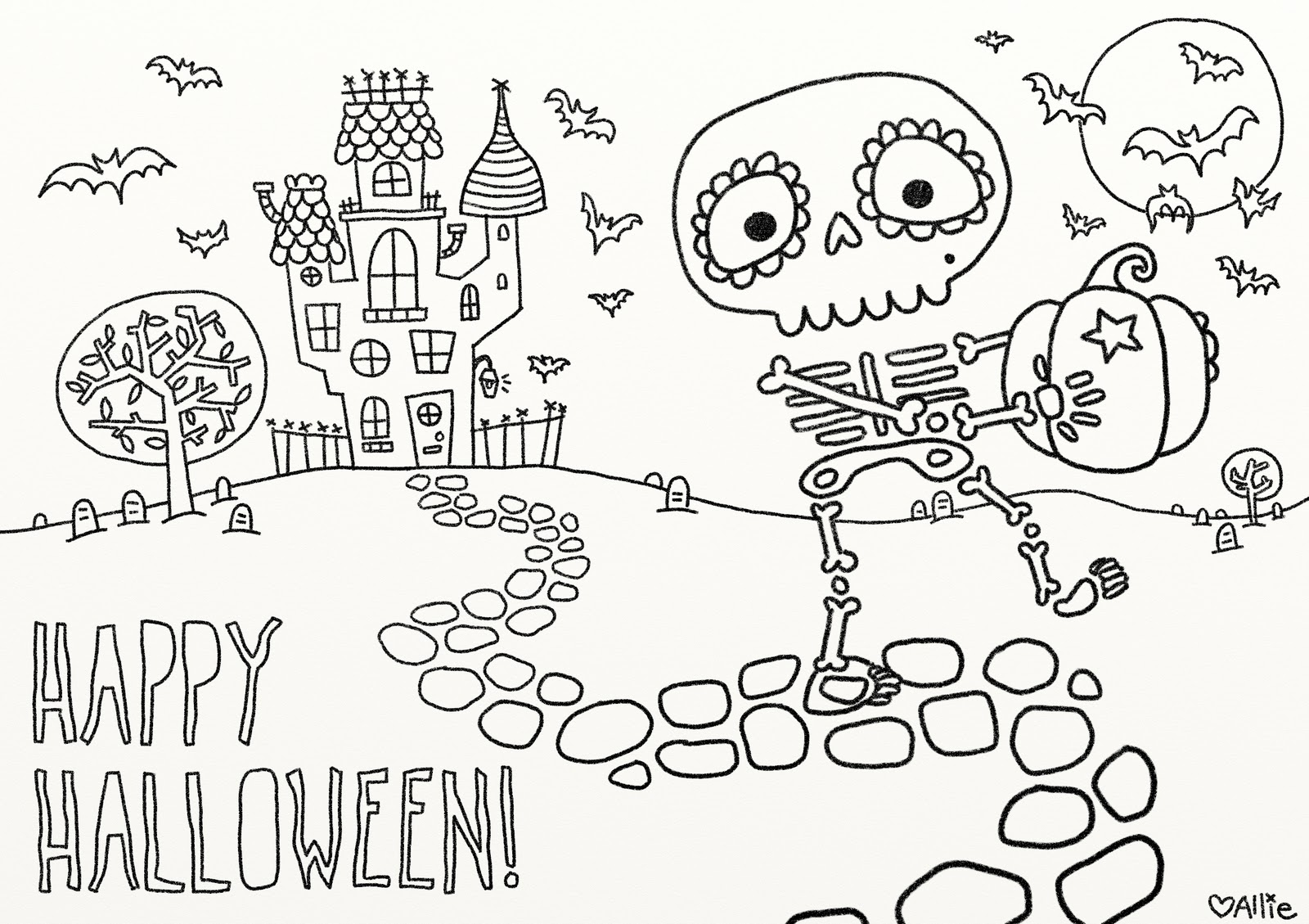 Halloween Coloring Pages Download 16a - Free Download