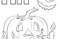 Halloween Coloring Pages - Letter H is for Halloween Coloring Page