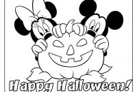 Halloween Coloring Pages - Mickey Halloween Coloring Pages