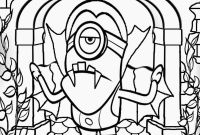 Halloween Coloring Pages - Minion Vampire Halloween Costumes Print Coloring Pages Free