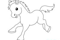 Horse Coloring Pages - Baby Horse Coloring Pages Coloring Pages