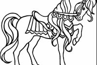 Horse Coloring Pages - Carousel Animals Coloring Pages New Carousel Horse Coloring Pages