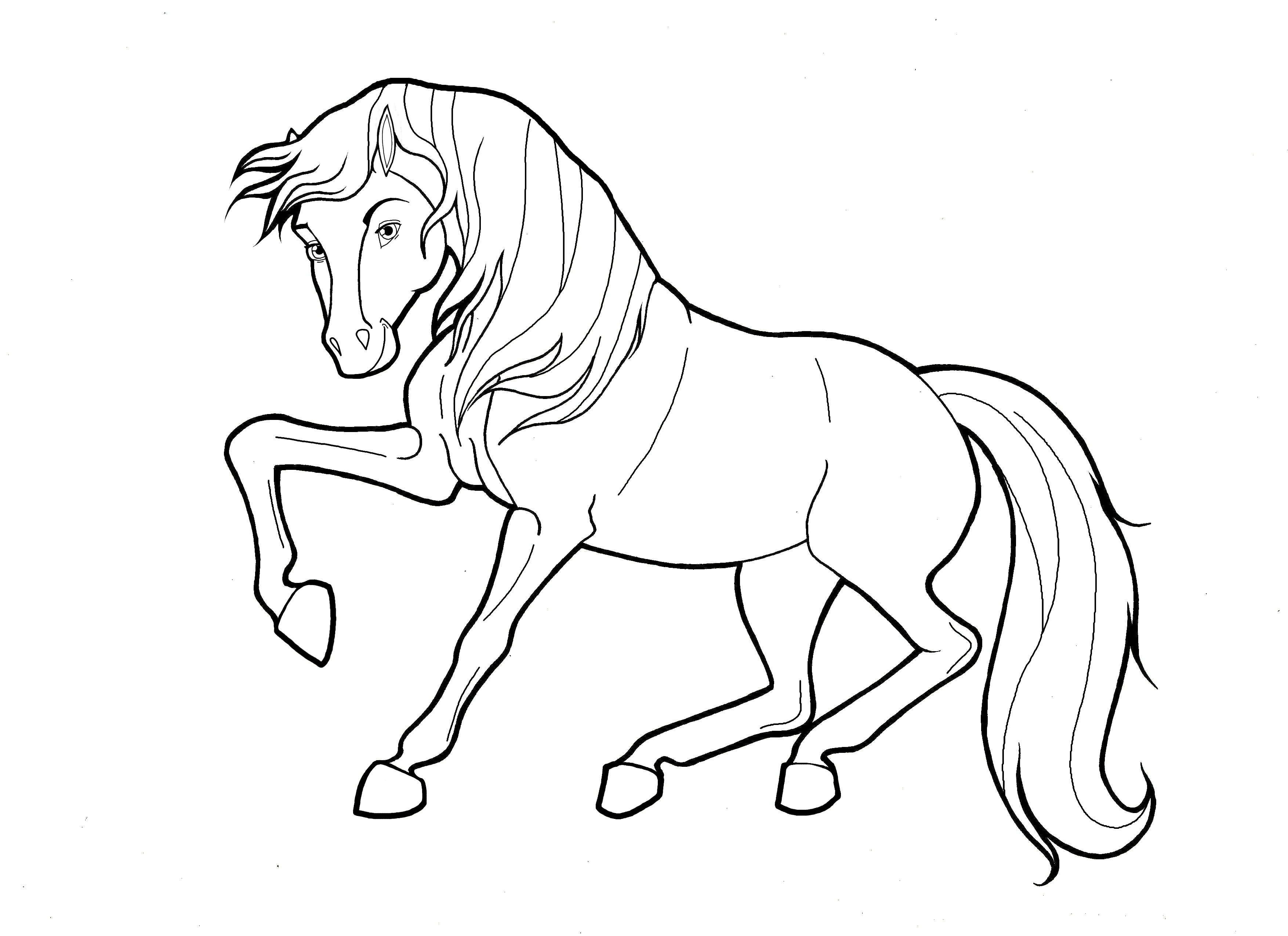 Free Coloring Pages Of Horses Top 48 Free Printable Horse Coloring ...