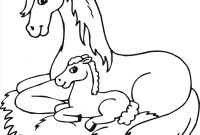 Horse Coloring Pages - Mom and Baby Horse Coloring Pages at Getcolorings